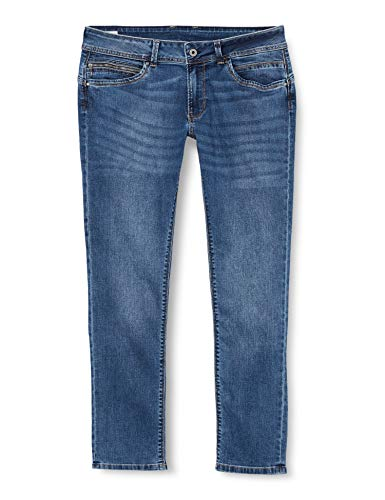 Pepe Jeans New Brooke W Jeans Vaqueros, Azul (Denim Hc5), 24W / 32L para Mujer