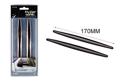Preisvergleich Produktbild Hypersonic® HP6166 SCHWARZ Spiegelschutz Spiegelschoner Türschutz Stoßstangenschutz Schutz für die Autospiegel Stoßstange oder Tür ,  selbstklebend ,  flexibel ,  2 STÜCK im Set ,  SCHWARZ Mirror Protector