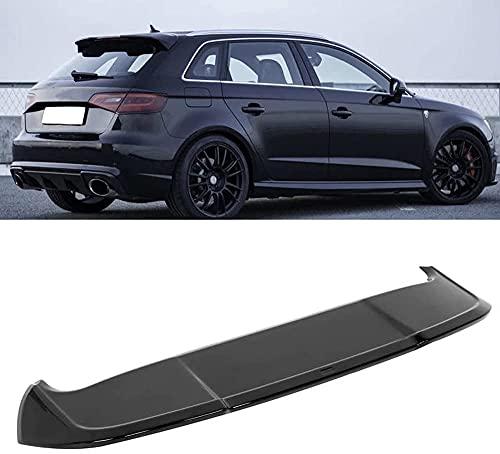 Siyse Alerón Trasero de Techo, Ajuste Negro Brillante para A3 8V Sportback 5 Puertas 2013-2020 para Accesorios de Coche Estilo RS3 alerón automático