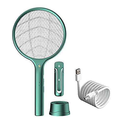 zrshygs Mosquito Killer Mosquitoes Lámpara y Raqueta 2 en 1 Fly Swatters Eléctrico
