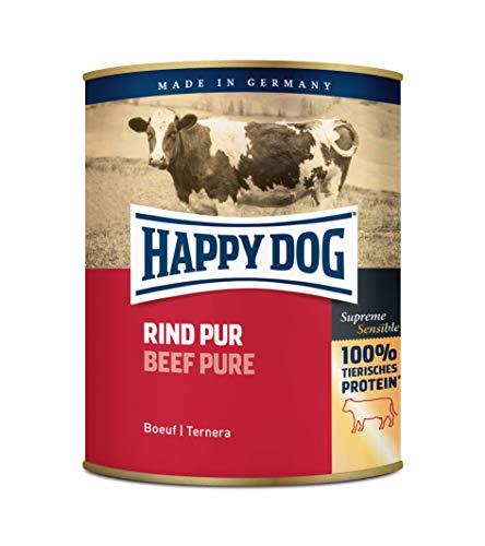 Happy Dog Fleisch Dosen Rind Pur, 800 g, 6er Pack (6 x 800 g)
