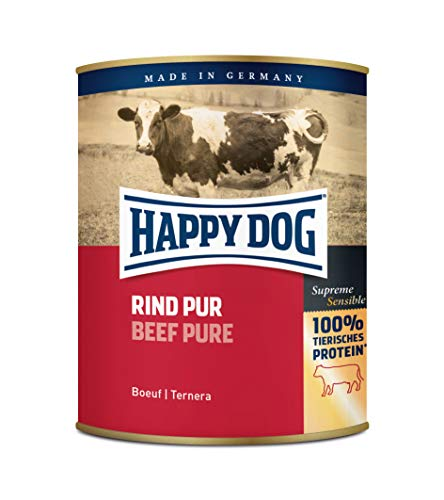 Happy Dog Fleisch Dosen Rind Pur, 800 g, 6er Pack (6 x 800 g)