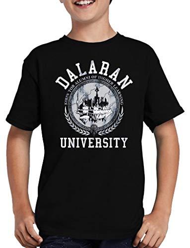 Dalaran University T-Shirt Kinder Wow Nerd Gamer 134/146 Schwarz