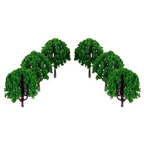 Generic 20Stück 7,6cm Landschaft Landschaft Zug Modell Bäume Maßstab 1/100–aus Kunststoff Zement Mehrfarbig grün 20pcs