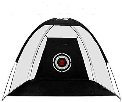 LEDMOO Golf Hitting Net with Target Sheet - 10x7ft Portable Golf Practice Net Driving Range for Backyard