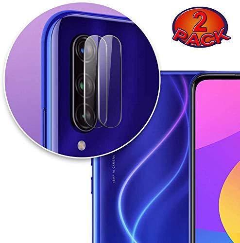 HongMan-Cristal Templado para Lente Cámara de Xiaomi Mi A3 /CC9e, Ultra Fino Protector 2.5D 9H de Dureza Cámara Trasera Lente Película de Pantalla [2 Unidades]