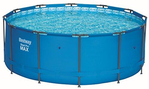 Bestway Steel Pro MAX Frame-Pool, 366 x 366 x 122 cm, rund, blau, 10.250 Liter, ohne Pumpe und Zubehör, Ersatzteil, Ersatzpool