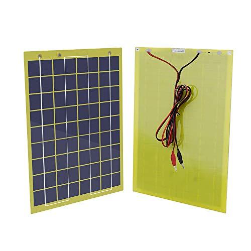 CO-WORTHY - Panel solar portátil de 5W 10W 20Wcon batería de 12 V para campamentos, teléfono para el hogar (Panel solar de 10W)