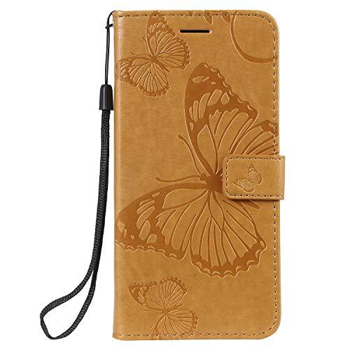 Jeewi Hülle für Nokia 8.1 2018 Hülle Handyhülle [Standfunktion] [Kartenfach] [Magnetverschluss] Tasche Etui Schutzhülle lederhülle klapphülle für Nokia8.1 - JEKT041995 Gelb