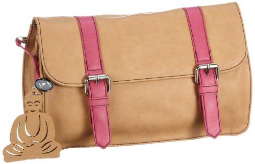 Friis & Company Damen Mulis Clutch, Braun (Camel 008), 30x40x15 cm