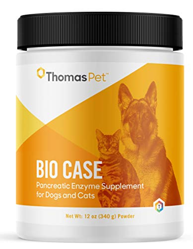 Thomas Pet Bio Case - Pancreatic Enzyme Supplement for Dogs & Cats - Digestive Aid - Digestive Enzymes for Dogs & Cats - Supports Healthy Digestive Tract - 12 oz Powder