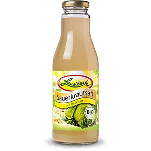 Sauerkrautsaft-Bio-Gemüsesaft, der Lausitzer Bio-Sauerkrautsaft mit 6x500ml in der Glasflasche