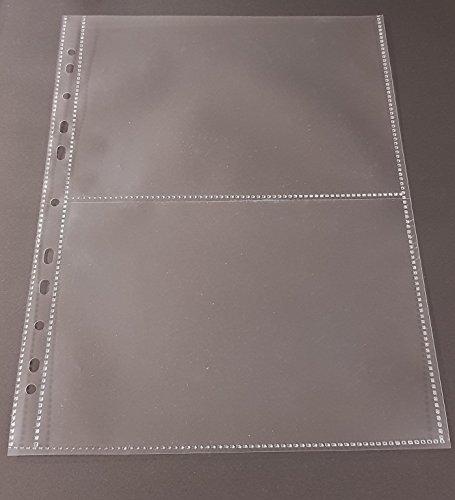 100x A4 Sammelhüllen, Prospekthüllen, Kartenhüllen, 120my, geteilt auf 2 Fächer (A5) recycelbar !