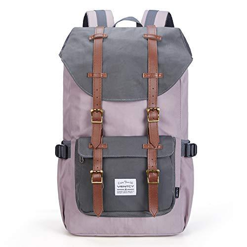 Vintage Rucksack, VENTCY Rucksack Damen 15 Zoll Laptop Rucksack Vintage Rucksack Uni Daypack Wasserabweisend Backpack für Freizeit Outdoor Reise