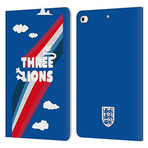Official England National Football Team Three Lions Kids Leather Book Wallet Case Cover Compatible For Apple iPad mini (2019)