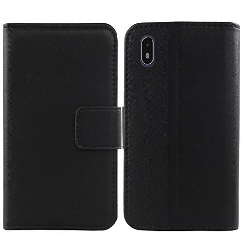 QHTTN Schwarz Echt Leder Tasche Hülle Für Archos Access 57 4G 5.7