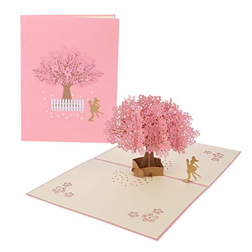 Cherry Cronin Cherry Blossom Bruiloft Kaart, Kreatieve Romantische Liefhebbers Kaart Valentijnsdag Kaart Bruiloft Kaart Moederdag Kaart Verjaardagskaart voor Vrouw Vriendin