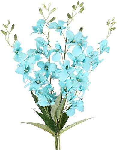 Künstliche Blumen Fake Flowers Bouquet Garland Gefälschte Blumen Pflanzen 4PCS künstliche blaue Blumen Indoor Outdoor Tischdekoration Blumenarrangements Home Küche Büro Garten, Frühling, Sommer