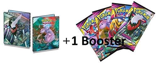 Lively Moments Pokemon Ultra-Pro-Binder A4 Sonne&Mond - Bund der Gleichgesinnten & 1 Booster Pack / Ordner mit 252 Fächer / Sammelordner / Sammelalbum für Karten