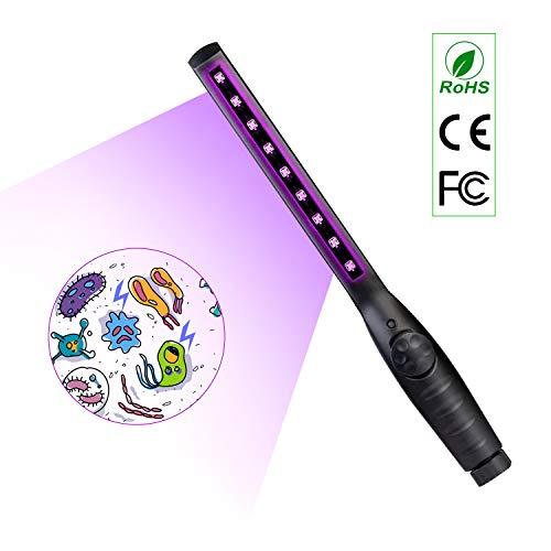 Lámpara de esterilización UV Lámpara germicida ultravioleta portátil Índice Antibacteriano 99% De...