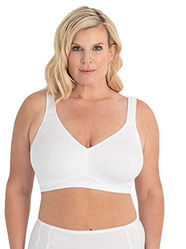 LEADING LADY Women's Dreamy Comfort Everyday Bra, The Claire, Bright White, 48A