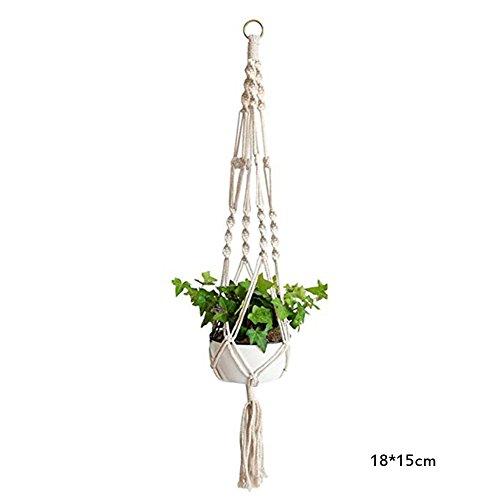 CAOLATOR Blumenampel Hängeampel Blumentopf Pflanzenhalter Hängend Pflanzen Aufhänger Netztasche Pflanzenaufhänger Dekoration Garten Zimmer Blumentöpfe Seil für Spinne Pflanze Ivy Indoor Outdoor (M)