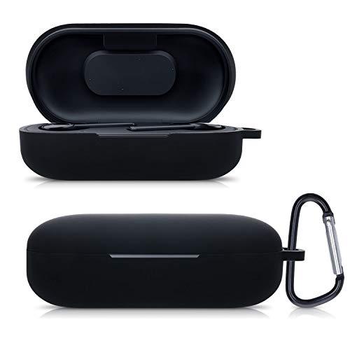 kwmobile Schutzhülle kompatibel mit Razer Hammerhead True Wireless - Hülle Kopfhörer - Silikon Hülle Cover Schwarz