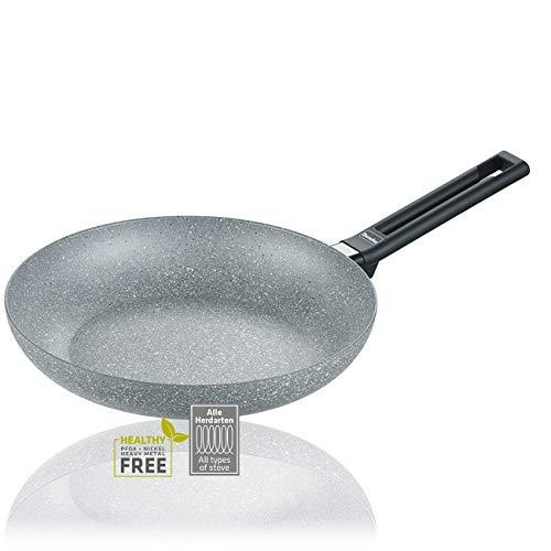 Berndes 0009570120 Pfanne 20cm-Alu Induktion Special Edition-große Bratpfanne für alle Herdarten, antihaftbeschichtet für fettarmes Kochen, Aluminium, grau