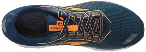 Brooks Men's Mid-Top Sneaker, Poseidon Grey Orange, 8 US
