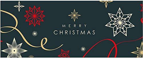 matches21 Teppichläufer Küchenläufer Teppich Läufer Weihnachten Merry Christmas Velours & Latex waschbar 60x150 cm