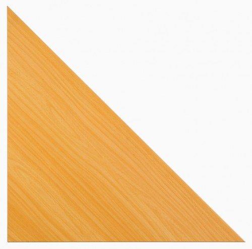Hammerbacher BIANCA Verkettung für Schreibtische - 90° Verkettungswinkel - Buche-Dekor | BE90/6 - Büromöbel Eckplatte Eckplatten Tischbrücke Tischbrücken Verbindung Verbindungen Verkettungsplatte Verkettungsplatten BIANCA Büromöbelprogramm SILVIA