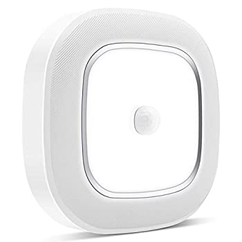 Motion Sensor LED Ceiling Light Battery Operated WhitePoplar Wireless Motion Sensing Activated LED Light 300LM White Indoor for Closet CabinetStairs KitchenLaundry Bedroom Basement Garage Hallway