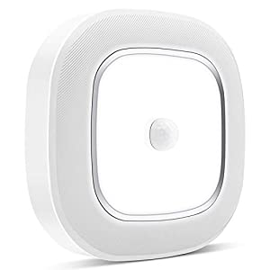 Motion Sensor LED Ceiling Light Battery Operated, WhitePoplar Wireless Motion Sensing Activated LED Light 300LM White Indoor for Closet Cabinet Stairs Kitchen Laundry Bedroom Basement Garage Hallway