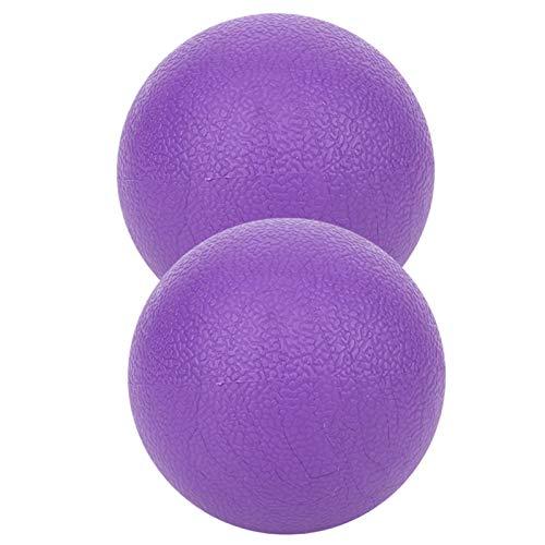 Fabricación profesional duradera Fácil de usar 2 piezas Bola de masaje de yoga púrpura, alivia la fatiga muscular, repara el daño muscular