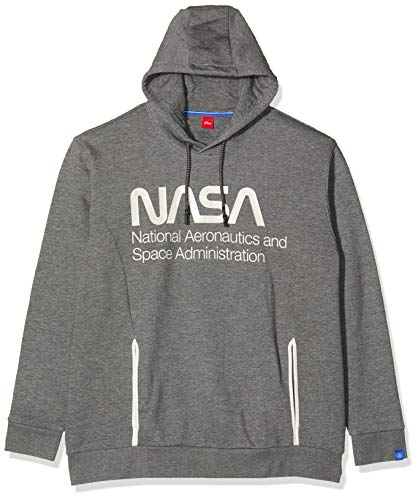 s.Oliver Big Size Herren 15.911.41.4928 Sweatshirt, Blau (Blend Grey 9730), XXXX-Large (Herstellergröße: 4XL)