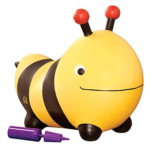 B. Toys- Ape cavalcabile rimbalzante-Bouncy Boing Bizzi B.Toys, Colore Giallo e Nero, 70.1455