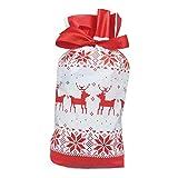 iSpchen 50 Bolsas de Navidad con Cordón, Bolsa de Embalaje de Regalo de Papá Noel, Bolsas de Regalo de Cumpleaños para Fiestas, Galletas, Dulces, Feliz Navidad, Halloween, Calendario de Adviento