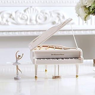 Cajas Musicales Regalo De Cumpleaños Caja De Música para Piano Baile Ballet Giratorio Niños Pareja Cumpleaños Festival