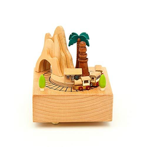 DINGYU Reduce la Caja Musical con la melodía, la Ducha Artesanal y el Regalo de cumpleaños para niñas y niños,Roller Coaster