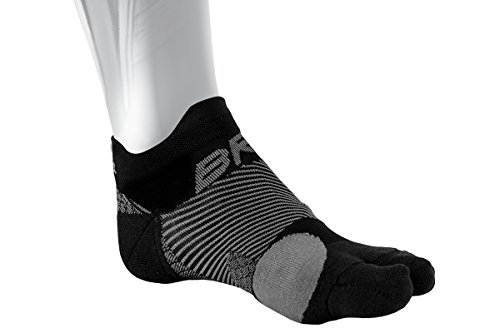 OS1st Bunion Relief Socks (One Pair) with Split-Toe Design and Bunion pad to Relieve Toe Friction and Bunion/Hallax Valgus Pain (Black, Medium)