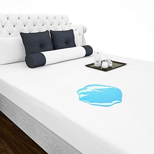 RongXi Protector de Colchón Impermeable Transpirable Delgado Hipoalergénico Antibacteriano Antiácaros Funda Cubre de colchón para 80 x 190/200 CM