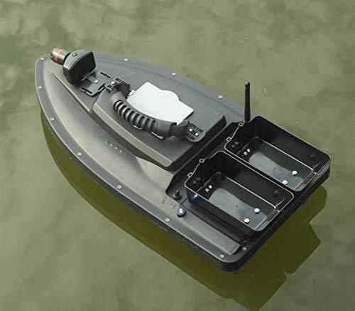 J & J Barco del Cebo de la Carpa Cebo de Pesca del Barco RC Boilies Runtime 8Hours, 1200g Lucha contra el Viento Hierba 300M de Pesca Remoto de Cebo Vivo con LED de luz Navigator