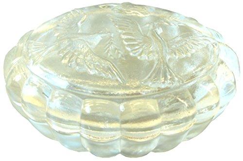 Boîte de rangement, moulé 2 kristallglas. motif colombes
