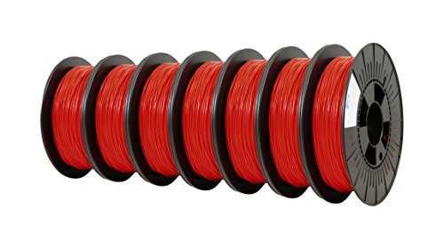 ICE FILAMENTS ICE7VALP087 Lot de 7 filaments flexibles Rouge 2,85 mm 0,50 kg