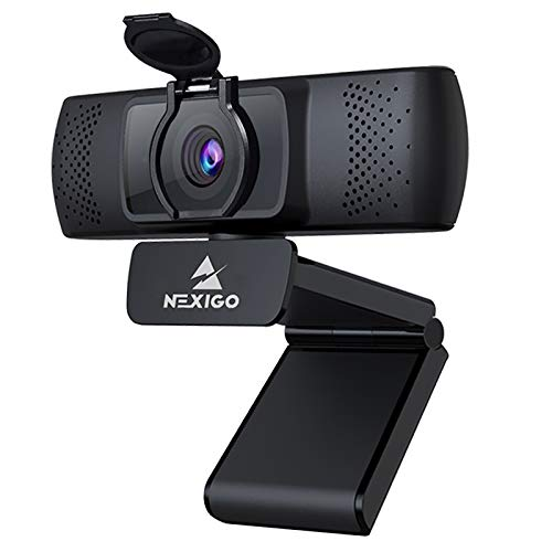 2021 1080P Streaming Business Webcam with Microphone & Privacy Cover, AutoFocus, NexiGo N930P HD USB Web Camera, for Zoom Meeting YouTube Skype FaceTime Hangouts, PC Mac Laptop Desktop