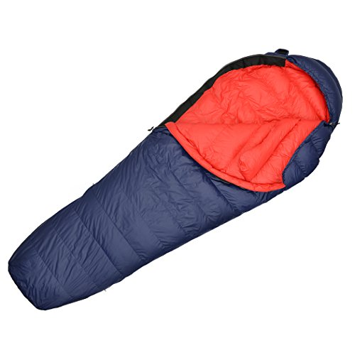 MOUNTAINTOP 32 F Ultralight Lightweight Mummy Down Sleeping Bag for Backpacking Adults Camping Hiking with Compression Sack