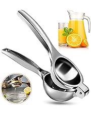 Vockvic handmatige citroenpers, roestvrijstalen citroen- en limoensappers, draagbare praktische enkele pers Handkalk citrusvruchtenpers, BPA-vrij en vaatwasmachinebestendig