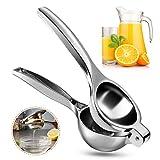 Vockvic Spremi Limone, Spremiagrumi Limone Lime Manuale in Acciaio Inox, Anti-Corrosione e Lavabile Spremiagrumi a Mano per Limone Arancia e Altri Frutti