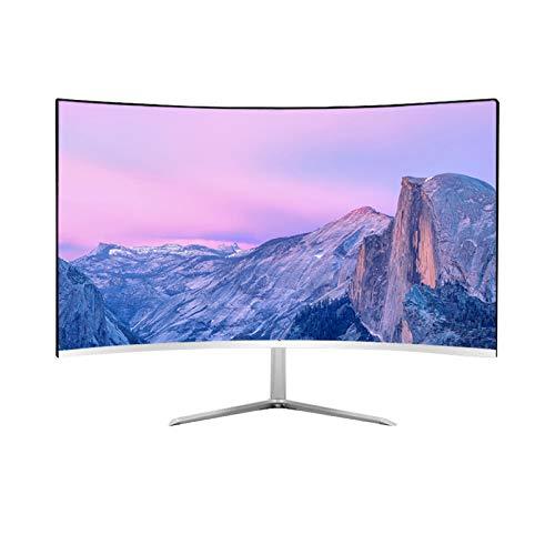YILANJUN Monitor, Display, 24/27/28/32 Zoll Gebogener/Gerader Bildschirm 60/75/144/240 Hz Weiß/Schwarz-rot/Schwarz (Mehrere Spezifikationen), für Internetcafés, Wohnzimmer, Büros