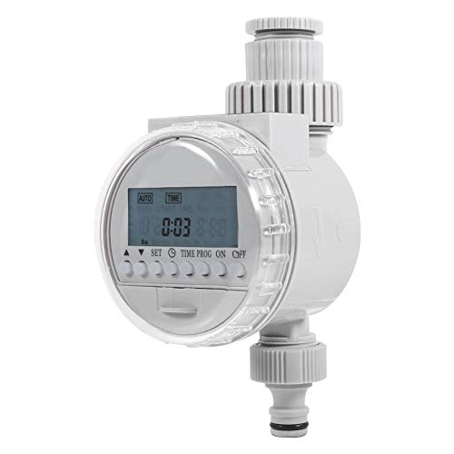 HEEPDD Automatic Water Timer, Programmable Hose Faucet Timer Solar Power Auto Water Saving Irrigation Controller LCD Digital Watering Timer for Home Garden Greenhouse Plant Grass